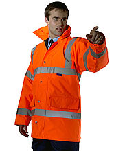 Orange or Yellow Constructor Traffic Jacket