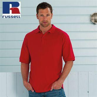 RUSSELL J539M Classic poly/cotton polo